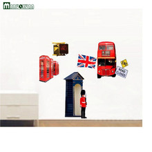 Wholesale Hot Style London Street Scene Wall Stickers Bedroom Living Room Study Personality Decorates Wall Paper