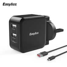 EasyAcc 24W 4.8A 2-Port USB Travel Charger with Foldable Plug Wall Charger Wall Charger for iPhone Samsung Huawei HTC zmi ha622 v2 charger wall adapter foldable prong travel plug wall charger with 2 usb ports