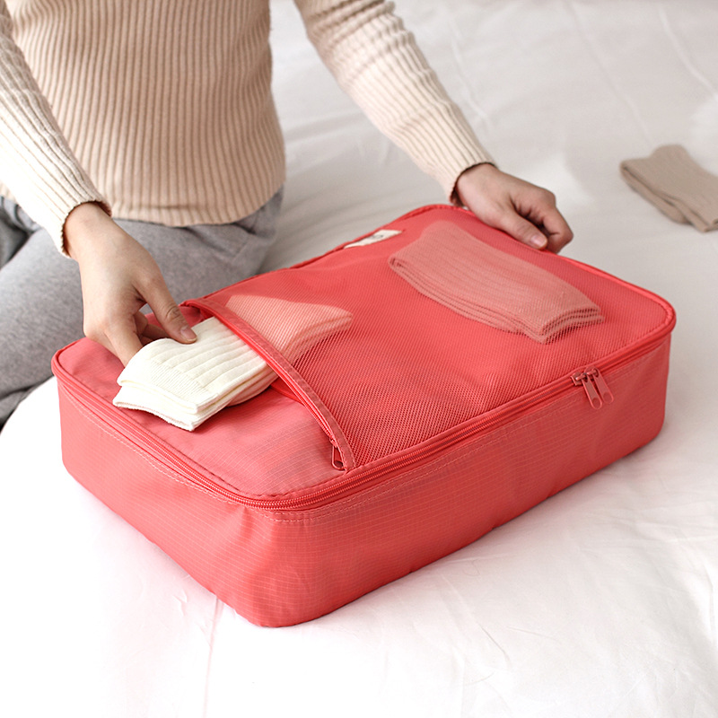 JULY'S SONG Travel Waterproof Bag Foldable High Capacity Quality Portable Mesh Bag For Women Men Travel Accessories