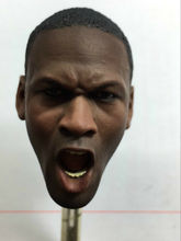 цена на Michael Jordan Head Sculpt Young Roaring Edition For 1/6 Scale Action