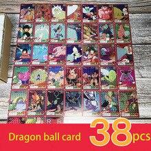 Limiet Dragon Ball Super Ultra Instinct Goku Jiren Actie Toy Figures Herdenkingsmunt Flash card Collectie Kaarten