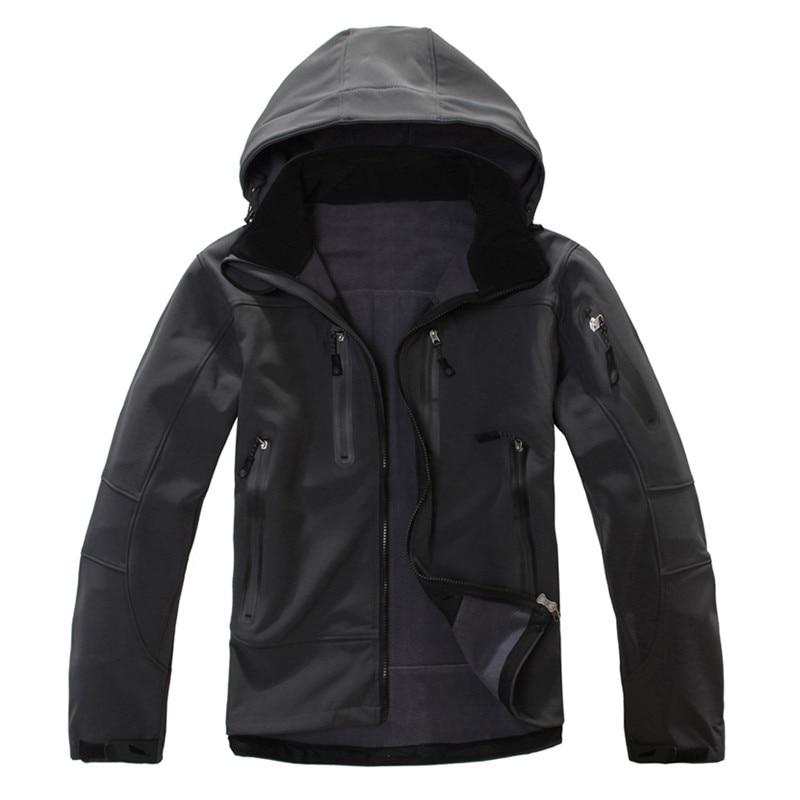 2019 Waterproof Softshell Jacket Men s Windbreaker Breathable Fleece Warm Rain Coat Outdoor Camping Fishing Hunting