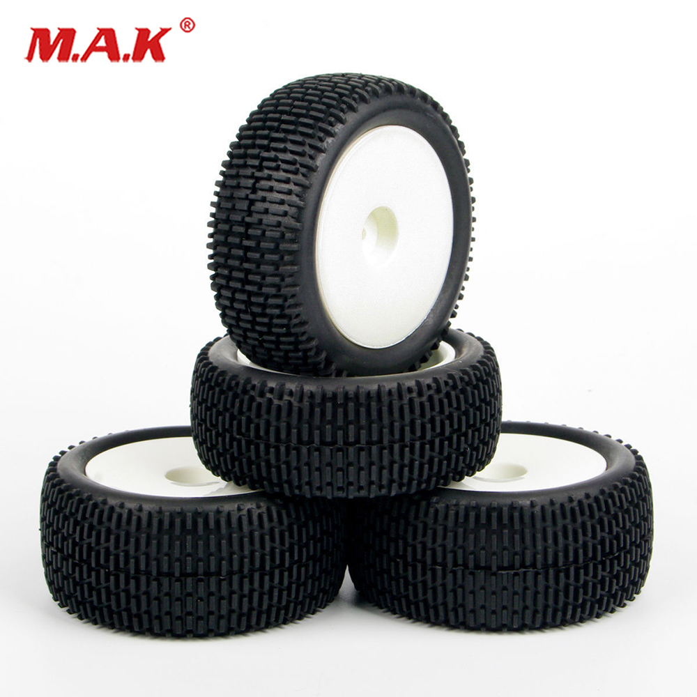 4 PcS/<font><b>SET</b></font> Front and Rear Tyre Tires <font><b>Wheel</b></font> Rim For <font><b>RC</b></font> 1:10 Off-Road Buggy Car 25024+2701 image