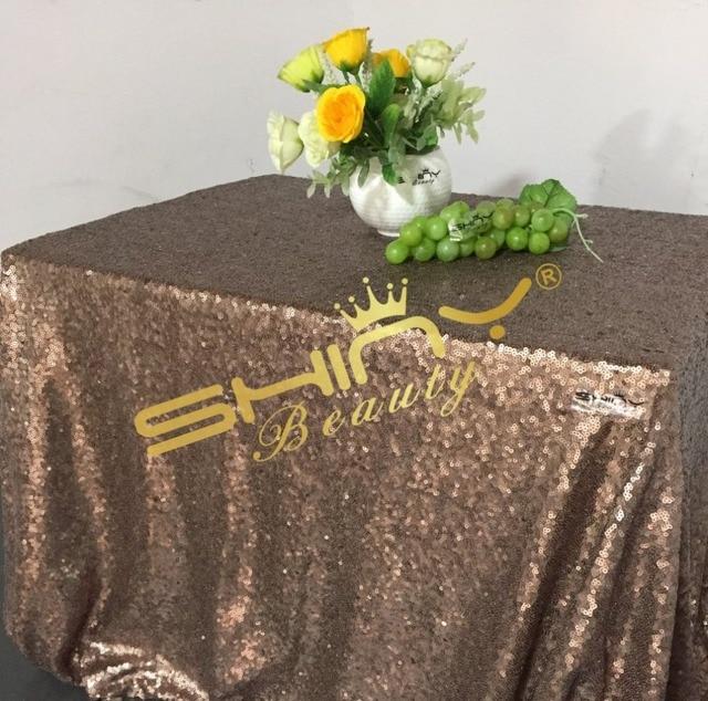 Nice Nice Chocolate Sequin Tablecloths, 50u0027u0027*50u0027u0027 Sequin Table Linens,