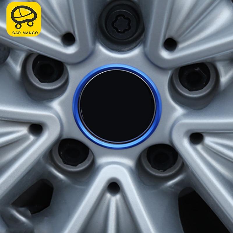 Accessoires de bague de décoration de logo de roue de voiture Auto MANGO pour BMW G30 5 series 2018