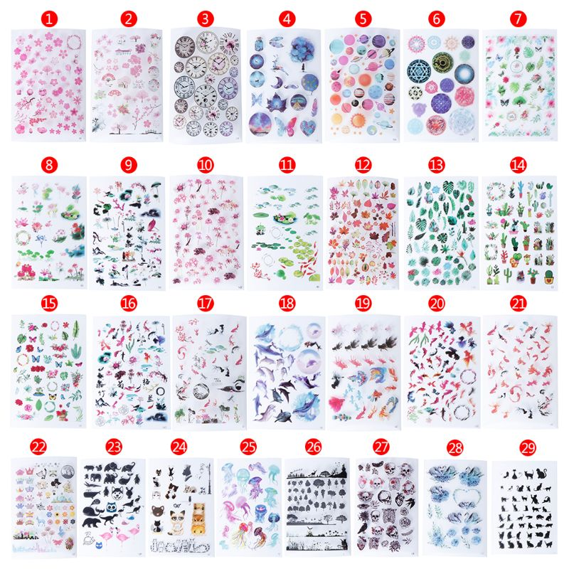 UV Resin Epoxy Resin Crafts Materials Filler Sticker Floral Colorful Translucent Crystal Animal Landscape Jewelry Making Tools