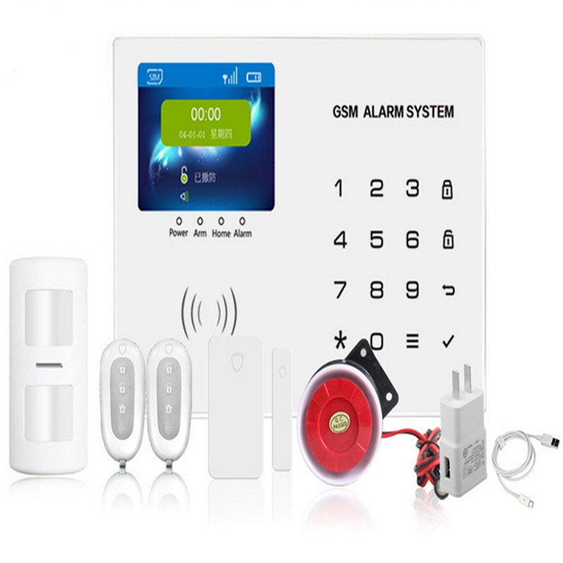 OWGYML Home anti burglar security GSM Alarm System IOS/Android App control Autodial Home Security alarm system burglar alarm