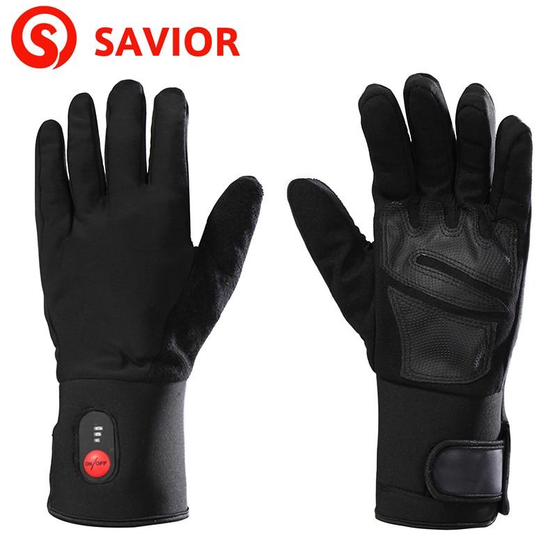 где купить SAVIOR S-04 Winter eletric heating Glove for skiing,fishing,riding,hunting,low temperature keep hands warm men women по лучшей цене