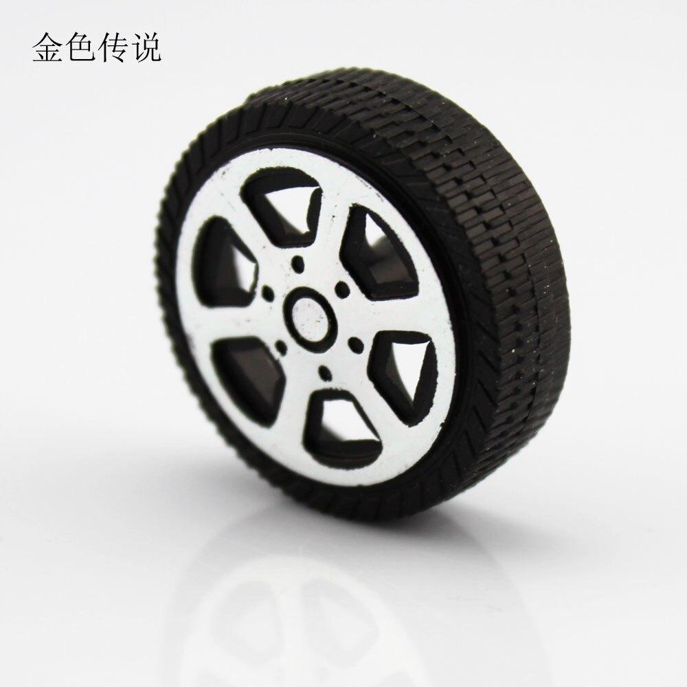 ᗚJmt 30*9*1.9mm carro plástico juguete rueda modelo Accesorios mano ...