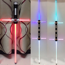 2 pcs lot Star Wars Lightsaber KYLO REN Cross lightsaber Led Light Sword Toys Cosplay Weapons