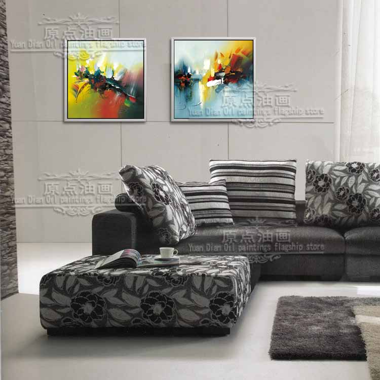 Hand Painted  colorful sky two piece island Landscape Modern Abstract Oil Painting Canvas Wall Art  Decor Gift Canvas PaintingHand Painted  colorful sky two piece island Landscape Modern Abstract Oil Painting Canvas Wall Art  Decor Gift Canvas Painting