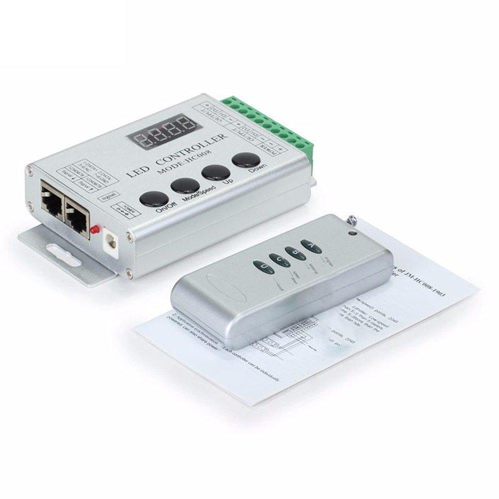 HC008 Keys RGB Led Pixel Controller Programmable Control 2048 Pixel 133 Effect Modes WS2811 WS2811 UCS1903 Controller