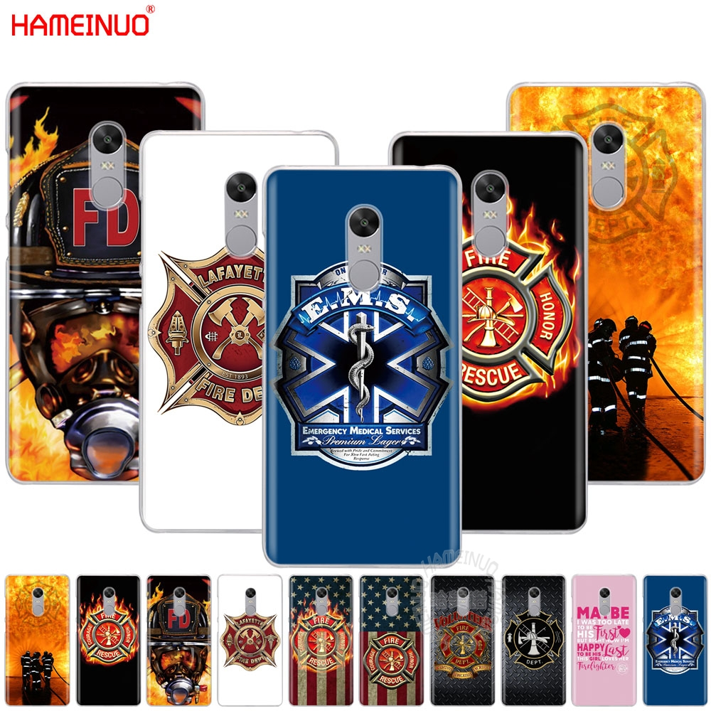 Phone Bags & Cases On Sale Luxury Mobile Phone Shell For Xiaomi Redmi Note 2 3 3s 4 4a 4x 5 5a 6 6a Pro Plus Firefighter Fireman Fire Helmet Attractive Fashion