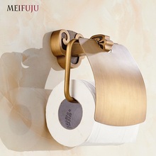 Antique Toilet Paper Holder Rack with Shelf Luxury Bathroom Accessories Tissue Box Paper Towel Holders Fixture Wall Mounted Bath