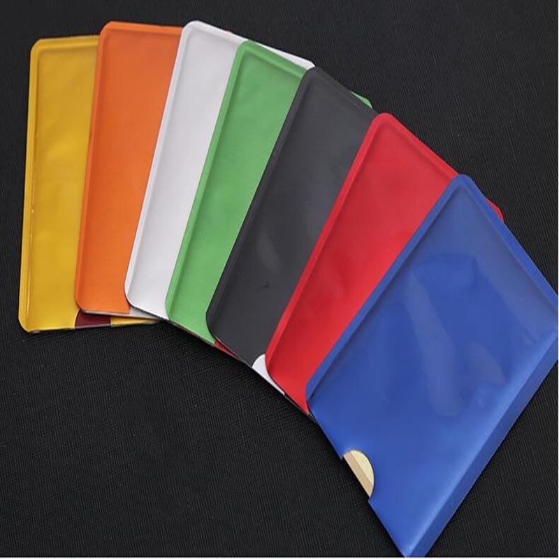 10pcs Anti Scan RFID Sleeve Protector Anti Theft Credit ID Card Aluminum Foil Holder Anti-Scan Card Sleeve Hot Sale