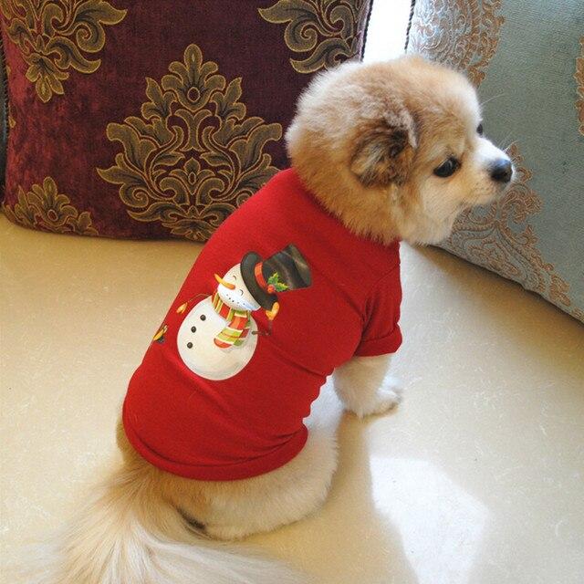 2018 Nuovi Vestiti Del Cane di Natale Poliestere T shirt Puppy Costume Per Il Fr