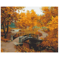 Autumn Maple Leaves Frameless Pictures DIY Painting By Numbers Set On Canvas By Numbers Drawing Decor