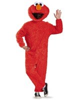 Sesame Street Elmo Adult Costume Plush Red Coveralls Mascot Adult Size