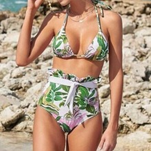 цена Sexy Bikini Women's Swimming Suit 2019 Swimsuit Women Floral Print Bikini Set Swimming Two Piece Swimsuits Swimwear Beach Suit онлайн в 2017 году