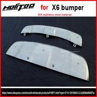 Для X6 бампера/крышка подоконник/опорная плита, подходит для 2013 2015, толщиной 304 нержавеющая сталь. качества ISO, низкая прибыль. азии Бесплатная