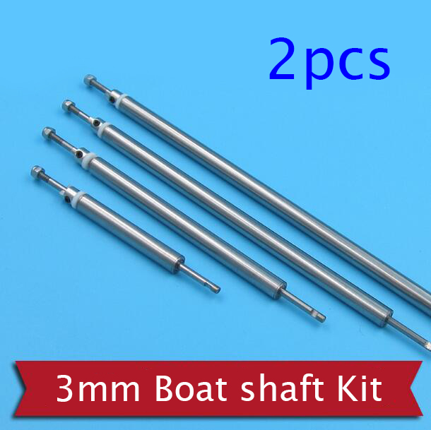 2 Sets RC Boat Shaft 3mm Drive Shaft+Shaft Sleeve with Bearings+Drive Dog+3mm PTFE Gasket+M3 Nut Spare Part for DIY Boat Model Parts & Accessories     - title=