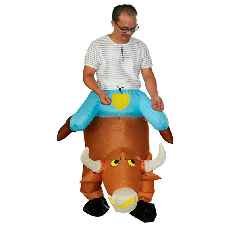 Adult Novelty Ride on Pants Cattle Shape Toys Oktoberfest Halloween Make-up Party Men Wo ...