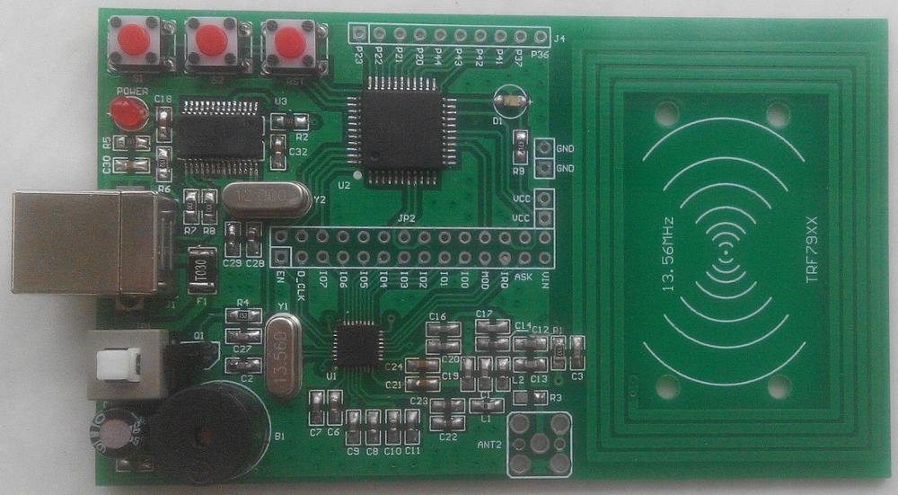 TRF7960 TRF7961 radio frequency RFID development board learning board 51 MCU driver