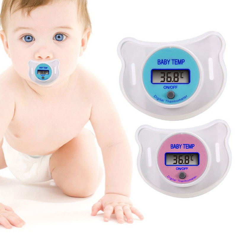 1 Pc New Practical Baby Nipple Pacifier LCD Digital Mouth Nipple Pacifier Thermometer Baby Thermometer Baby Kids Care