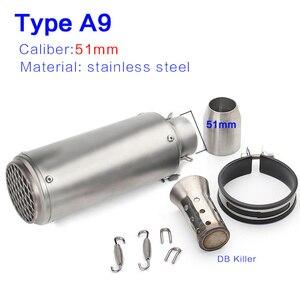Image 5 - 51mm/60mm motorcycle pipe Muffler with DB killer escape moto sc for R6 GSXR1000 R25 MT07 CBR1000 cb650f gsxr250