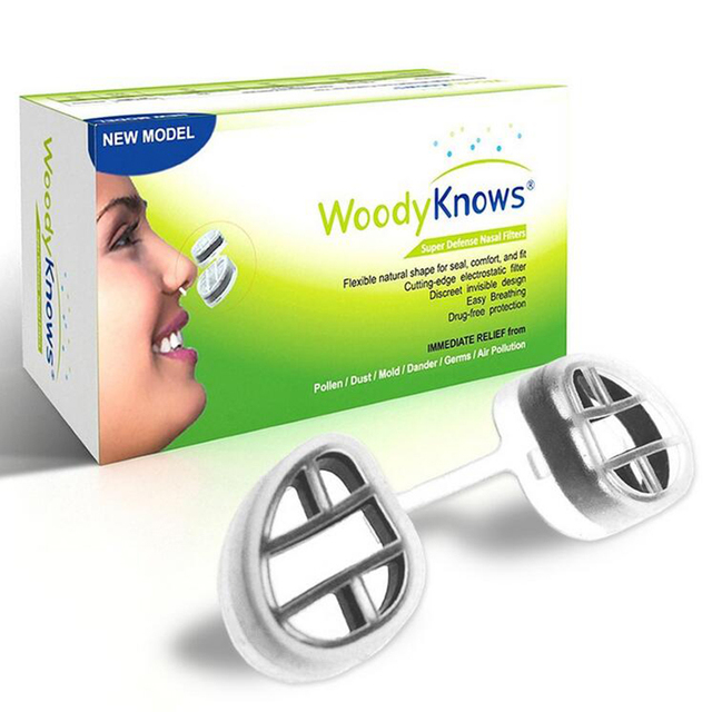 WoodyKnows Air Filter Super Defense Nasal Filters Nose Masks Pollen Allergies Dust Allergy Relief No pm2.5 Air Pollution