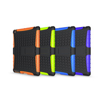 Tyre Style Duty Armor TPU PC Tablet Cases For Apple IPad 2 3 4 IPad2 IPad3