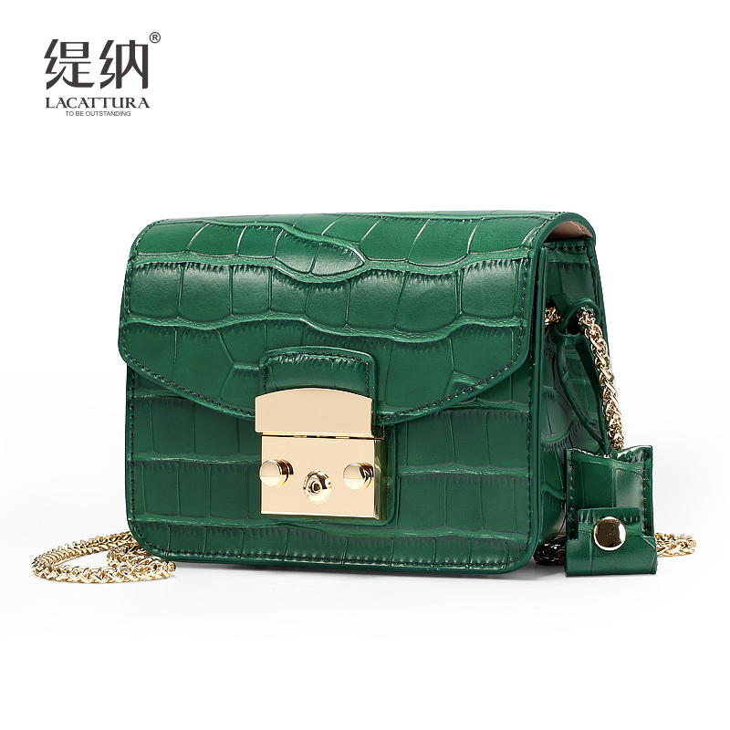 A1342 2017 LACATTURA Brands alligator Cow leacher font b women b font messenger font b bags