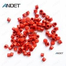 Tapacubos de puntero de bola roja para ratón, tapa de puntero suave para teclado T480 T470 T460 T450, 100 Uds.