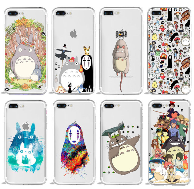 official photos 42729 869e5 US $1.06 41% OFF|Spirited Away Ghibli Anime Kaonashi Cute Totoro Phone case  for iPhone 5 5S SE 4 4s 6 6s 7 8 Plus XR X XS Max TPU Silicone Cover-in ...