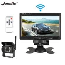 Jansite 7 дюймов TFT lcd автомобильный монитор беспроводная версия HD дисплей камера обратная помощь камера система парковки 18IR светодиодный фотоаппарат