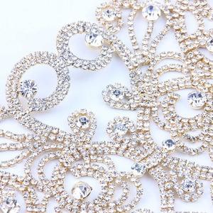 Image 4 - StoneFans חתונה הצהרת קולר שרשרת תוספות אופנה ריינסטון חדש ביב Collares קריסטל שרשרת לנשים 2018 תכשיטים