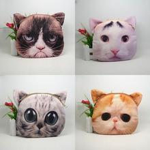Fatory Directe Shopping! impression mignon animaux head illustration sac chien cat head sac portefeuille dame sac d'épaule sacs