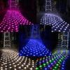 Outdoor Indoor 8 Modes LED Net Lights Christmas Lights 672 LEDs 4 X 6m LED