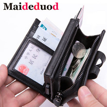Maideduod 2019 New Arrival RFID Blocking Credit Card Holder PU Leather Unisex Business ID Card Holders Aluminum Box Card Wallets цена
