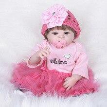 Silicone Bebê Reborn Bonecas 55 CM Linda Bonecas Reborn Bebe Jogo casa de Boneca de Brinquedo Presentes para As Meninas SF5531 Bonecas De Silicone Completo renascido