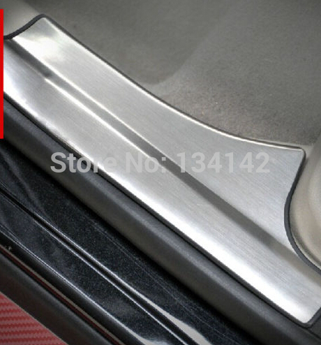 free shipping Stainless Inside Internal Door sill Sills scuff plate cover Protector For Ford Focus 3 mk3 2012 free shipping 2015 byd s7 high quality stainless steel thicken scuff plate door sill