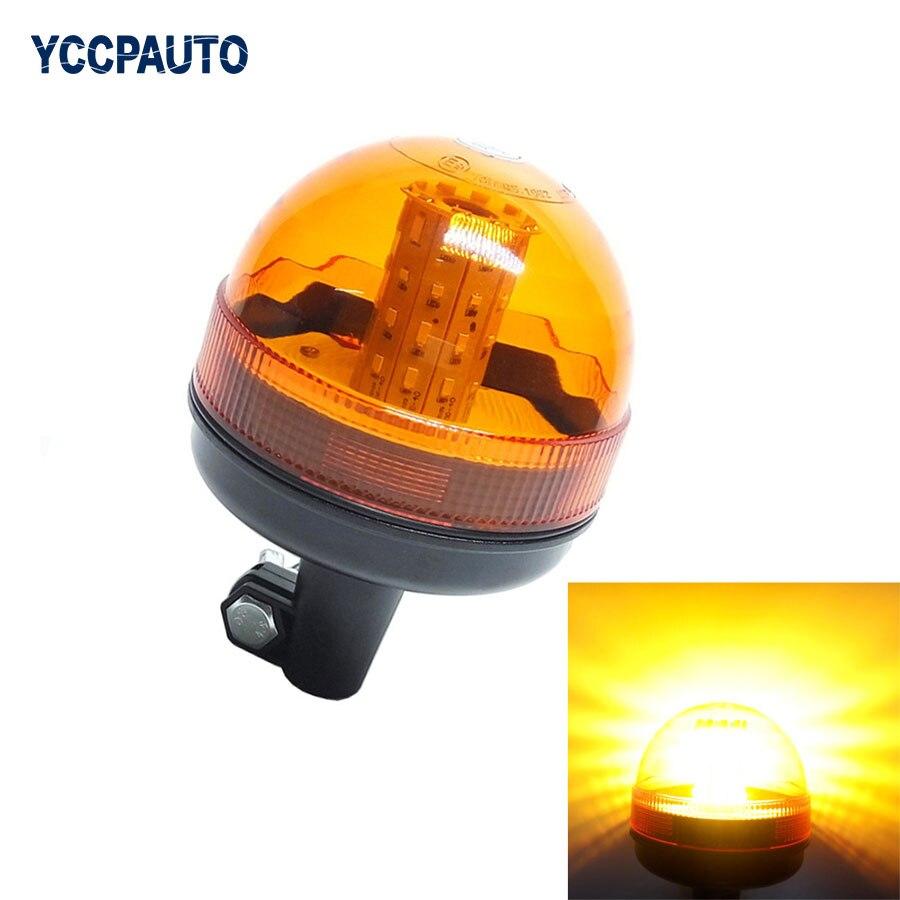 Motorcycle Emergency LED Strobe Light Amber Beacon Hazard Warning Safe Amber Flash Lights Plus Coaster 5730 40SMD 12-24V 15W 1pc