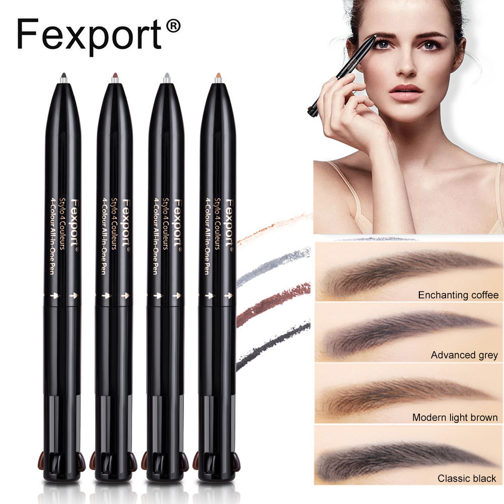 Candid Aliexpress Fexport Four-in-one Multi-function Waterproof Eyebrow Pencil Clear And Distinctive Beauty & Health