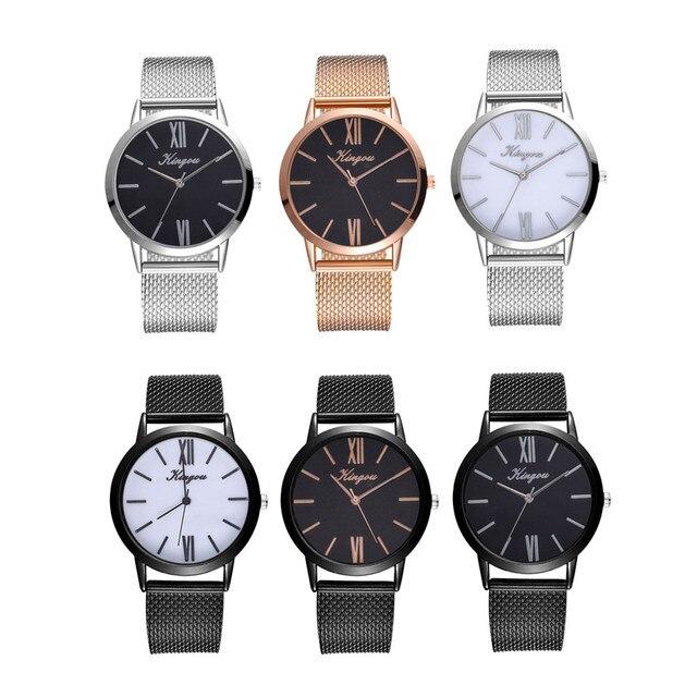 Kingou Women's Casual Quartz Silicone strap Band Watch Analog Wrist Watch woman