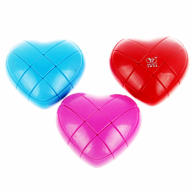 Yongjun Love Strange Shape Magic Cube Brain Teaser Speed Square Educational Stress Puzzle Cube Toys for Chidren Gift for Couple