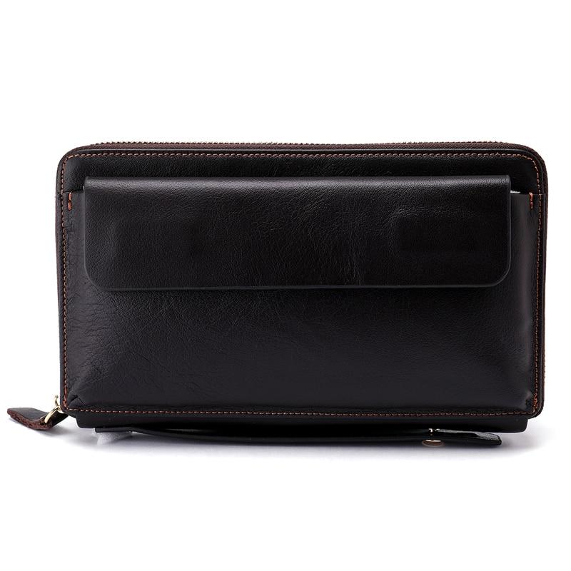 605ec4dbe683 WESTAL Wallet Male Genuine Leather Wallet Men Wallets for Credit Card Man  Purses Zipper Card Holder Fashion Long Wallet Bag 9043