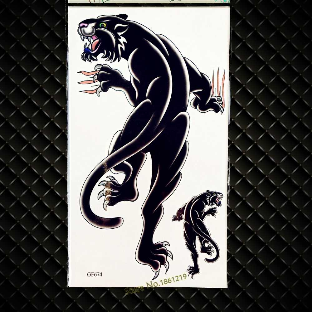 3d Black Leopard Temporary Tattoo Panther Waterproof Fake