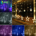 2m 138LED Christmas Wedding Party Xmas Curtain Window Star Fairy String Lights