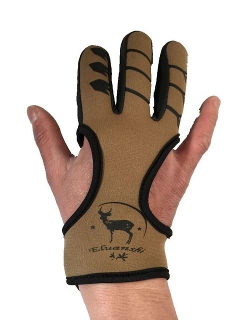 Protector 3 guantes de tres dedos arco arcos profesionales para compuesto recurvo y flechas caza ballesta