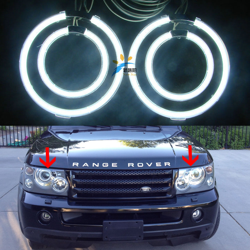 Ultra bright CCFL Angel Eyes kit 12V For Land Rover Range Rover 2003 2004 2005 2006 2007 2008 2009 XENON HEADLIGHT Halo rings руководящий насос range rover land rover 4 0 4 6 1999 2002 p38 oem qvb000050